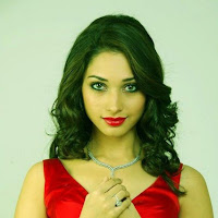 Tamannah latest-hot photoshoot stills-Red Dress